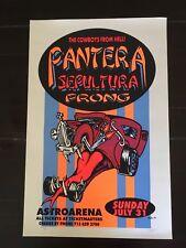 Pantera, Sepultura, Prong - Silkscreen Flyer by Lee Bolton - 1994