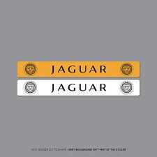 SKU2117 - Jaguar Number Plate Dealer Logo Cover Stickers - 140mm x 18mm