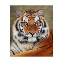5D DIY Tiger Diamond Painting Full Square Rhinestone Stick Drill Cross Stitch QL