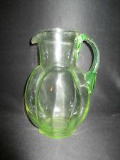 ancienne cruche en verre soufflé ouraline fin XIX ème
