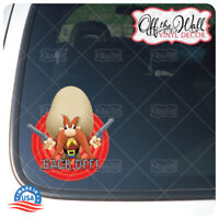 "Yosemite Sam""Back Off!"" Die-cut Printed Waterproof Sticker for Cars/Trucks"