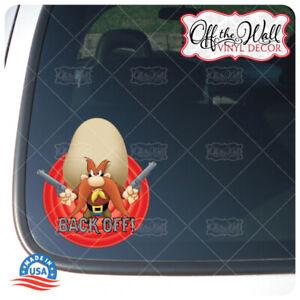 """Yosemite Sam""""Back Off!"""" Die-cut Printed Waterproof Sticker for Cars/Trucks"""