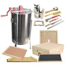 2 Frame Honey Extractor w/ Honey Bee Brood Box & BeeHive Tool Kit Glbsebroodcts1