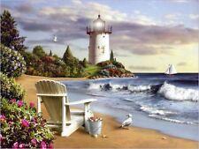 Lighthouse & Beech Scene Diamond Mosaic Painting Kit 40cm x 30cm