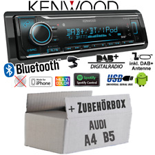 Kenwood Radio für Audi A4 B5 DAB+ Bluetooth iPhone Android VarioColor Auto Set