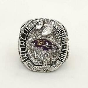 New Baltimore Ravens Super Bowl Style Men's Ring 925 Solid Sterling Silver