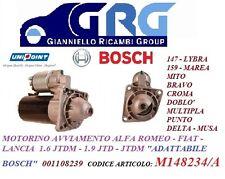 MOTORINO AVVIAMENTO ALFA ROMEO 147 156 159 FIAT PUNTO STILO-1.9 JTD-1.6 JTDM