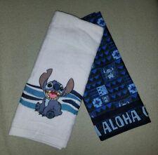 NEW Disney Parks Stitch Lilo Kitchen Dish Towel Ohana Aloha Polynesian Set of 2