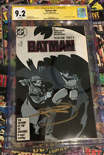 Batman Year One Part 4 #407, CGC 9.2, signed by Frank Miller