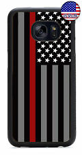 Fire Rescue Red Thin Line Rubber Case For Samsung Galaxy S8 Plus S7Edge S6 S5 S4