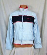 VTG ADIDAS women's l/s sky blue lined tracksuit top jacket sz S (10 UK) great co