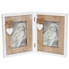 Provence Heart Double Shabby Chic Photo Frame 4x6 NEW