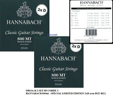 2 SET CORDE CLASSICA HANNABACH 800MT 2xd SPECIAL EDITION + 2 RE BASSI ARGENTO