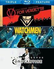 V for Vendetta Watchmen Constantine 3 Discs 2012 Blu Ray