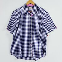 Thomas Cook Womens Size 20 Blue White Check Short Sleeve Shirt Country Brand New