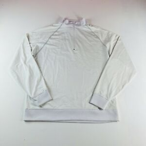 Footjoy Golf 1/4 Zip Pullover Sweater Solid White Mens Size Medium