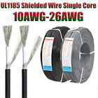 UL1185 Single Core Shielded Wire Cable 10AWG-26AWG Audio Wire Signal Wire