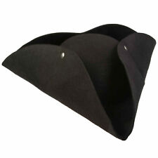 "Forum Halloween Caribbean 13"" Diameter Pirate Tricorn Hat, Black, One-Size"