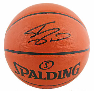 Lakers Shaquille O'Neal Signed Game Ball Series Basketball w/ Black SIg BAS