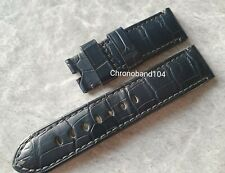 Genuine Officine Panerai 24/22mm Blue Alligator Tang Buckle Strap  - Pre Owned