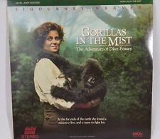 Warner Bros laser disc Gorillas in the Mist Movies Dian Fossey Sigourney Weaver