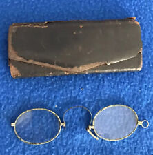 Antique Eyeglasses Spectacles with Case