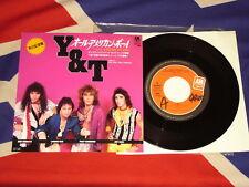 """7"""" Y&T - all american boy  1985  (JAPAN PROMO)"""