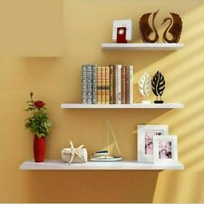 Home Decor Floating Wall Shelves 3Pc Ledge Shelving Storage Shelf Display