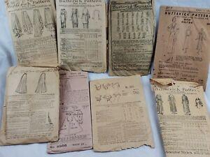 LOT Vintage Sewing Patterns 1889 / 1915 BUTTERICK New Deltor