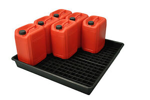 Oil Chemical Bunded Drip Sump Spill Pallet Tray  100litre / 9 x 25 litre