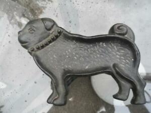 "Design Cast Iron Dish, Bulldog pug dog Trinket Dish Dresser Desk 8"" x 5"""