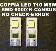 2 WHITE LED T10 SMDW5W 6000 K CANBUS NO LIGHTS AUDI BMW FORD TARGA, POSITION