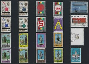 H 208 British Guiana & Guyana / A Small Collection Early & Modern Used