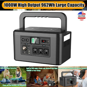 1000W 962Wh Portable Power Station Solar Generator Backup Battery Power Supply