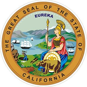 California State Seal Decals / Stickers