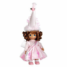 "Precious Moments 12"" Happy Birthday Princess Vinyl Doll Aubur Pink New"