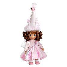 "Precious Moments 12"" Happy Birthday Princess Vinyl Doll Aubur Pink NEW"
