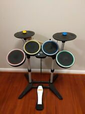 Xbox 360 Rock Band 2 Wireless Drums Kit & Stand Cymbols Model XBDMS2 complete