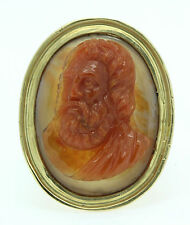 A Magnificent Georgian Agate Cameo Ring Of Zeus Circa 1800's