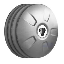 FlowBelow Aero Wheel Cover Set, 4 Gray 22.5 Adjustable Aerodynamic Hubcaps DUALS
