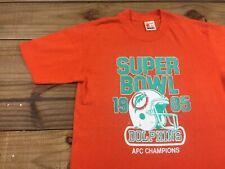 VTG 80's Signal Sports Miami Dolphins 1985 Super Bowl T-Shirt M Football NFL