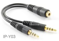 CablesOnline 3.5mm TRRS Female to 2x TRRS Male Stereo 4-Pole Splitter Cable