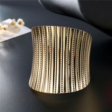 GOLD CUFF WIDE,  AFRICAN INSPIRED BRACELET
