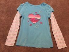 Girls Sonoma Blue Heart Long Sleeve Shirt Top Size 6X