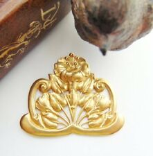 Brass Scrolling Lily Pads Flowers Leaves Stamping ~ Jewelry Finding (Fb-6052)