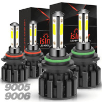 4SIDE 9005+9006 Combo LED Headlight Kits 120W High/Low Beam Bulbs 6000K White