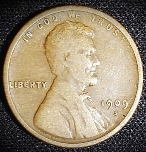 1909-S Lincoln Wheat Cent - Circulated - Nice Details - Scarce!