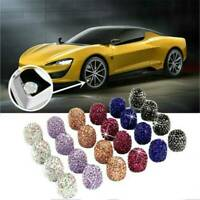 4pcs Valve Tire Stem Caps Bling Diamond Air Cap Cover For Car Wheel White Caps