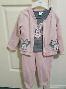 Toddler Girls DISNEY MINNIE MOUSE  3 PIECE SET Jacket , pants , top Size 2