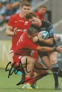 NEWCASTLE FALCONS RUGBY UNION: SIMON HAMMERSLEY SIGNED 6x4 ACTION PHOTO+COA
